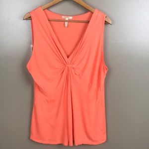 OLD NAVY Maternity V Neck Tank Top Orange Sherbet